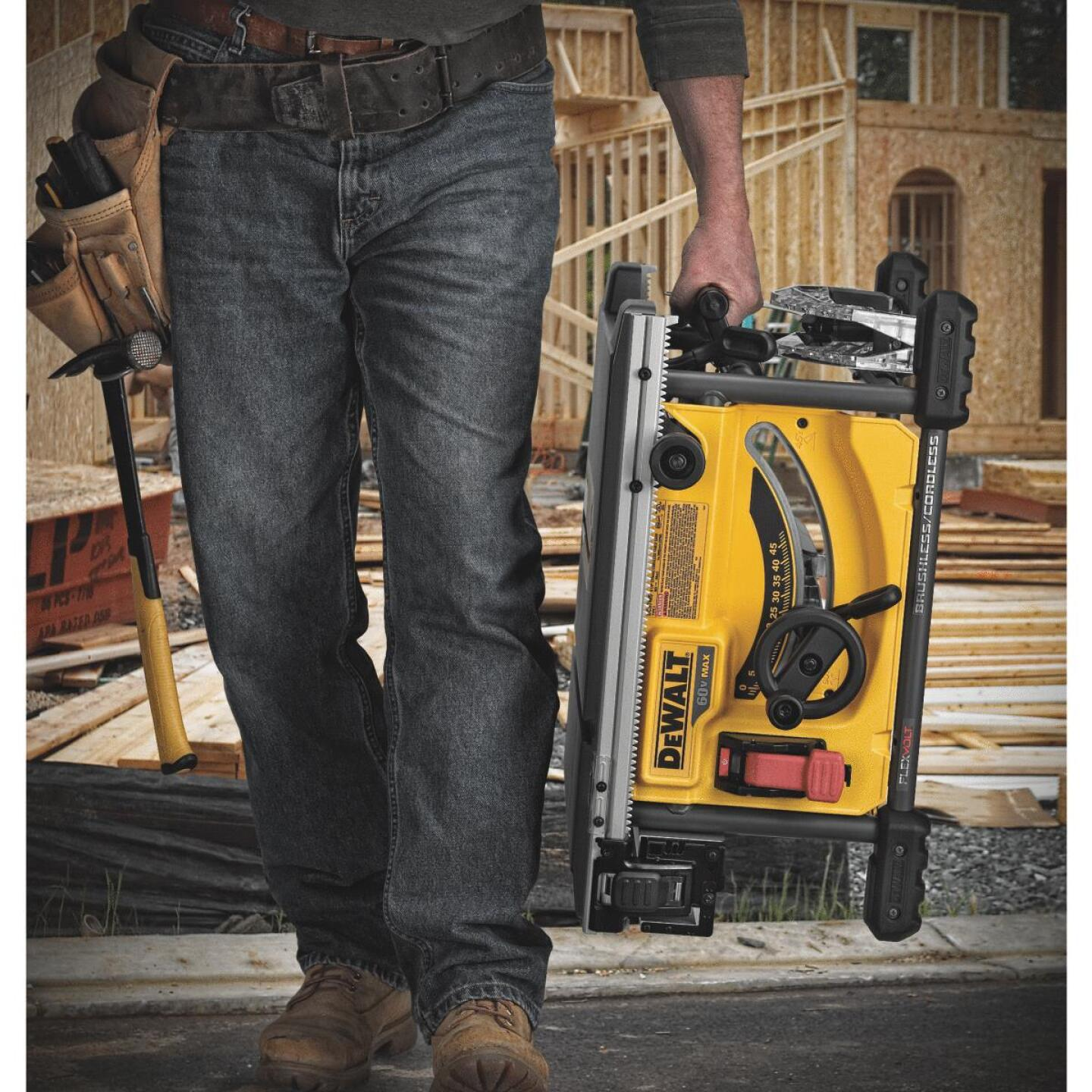 DeWalt Flexvolt 60-Volt MAX Lithium-Ion Brushless 8-1/4 In. Cordless Table Saw Kit Image 4
