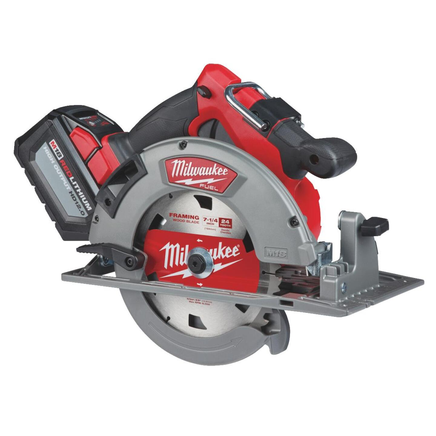 Milwaukee M18 FUEL 18 Volt Lithium-Ion Brushless 7-1/4 In. Cordless Circular Saw Kit Image 4
