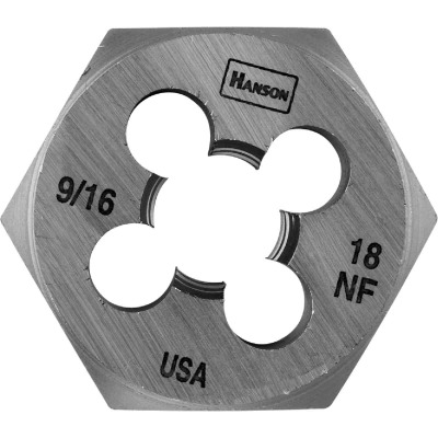 Irwin Hanson 9/16 In. - 18 NF Machine Screw Hex Die