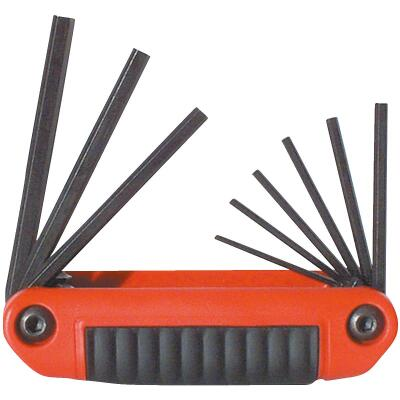 Eklind Medium Handle Ergo-Fold Hex Key Set, 9-Piece