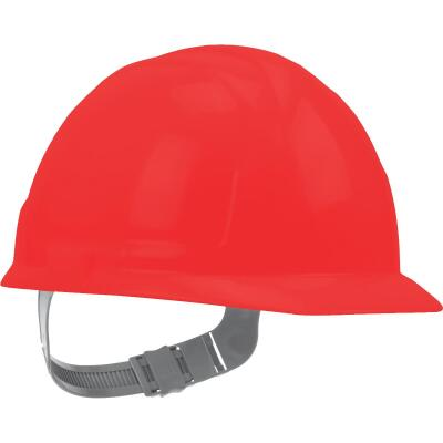 Safety Works Red Cap Style Slip Ratchet Hard Hat