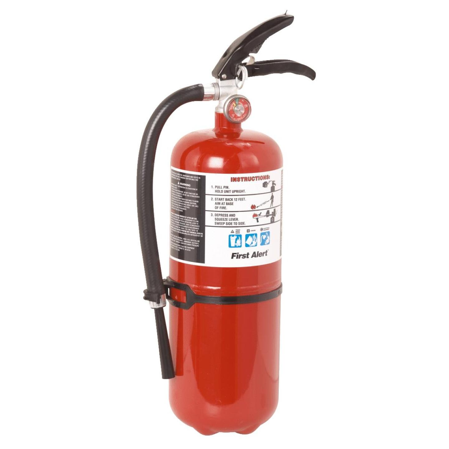 First Alert 4-A:60-B:C Rechargeable Commercial Fire Extinguisher Image 1