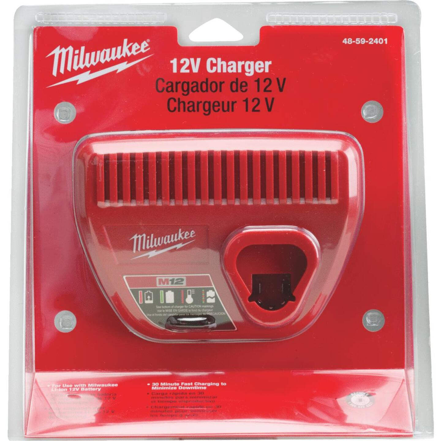 Milwaukee M12 12 Volt Lithium-Ion Battery Charger Image 2