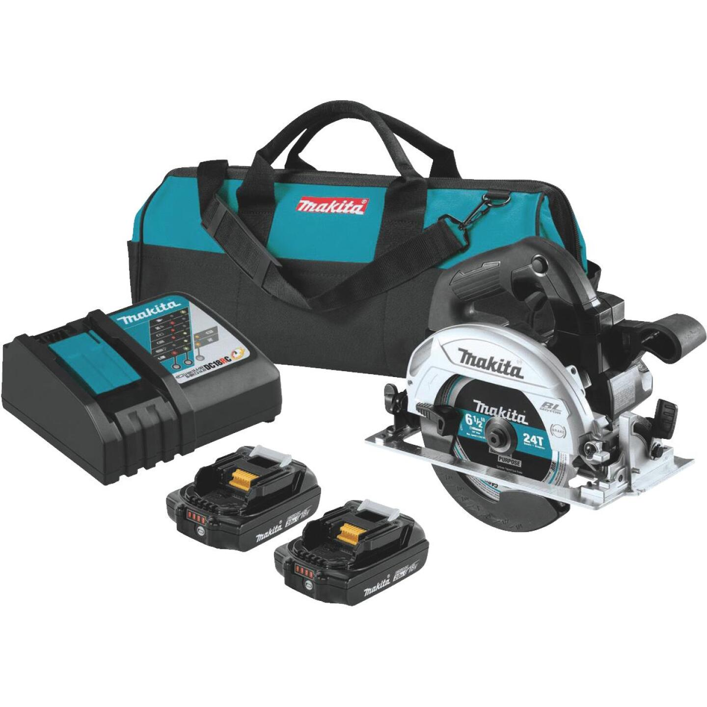 Makita 18 Volt LXT Lithium-Ion Brushless 6-1/2 In. Sub-Compact Cordless Circular Saw Kit Image 1