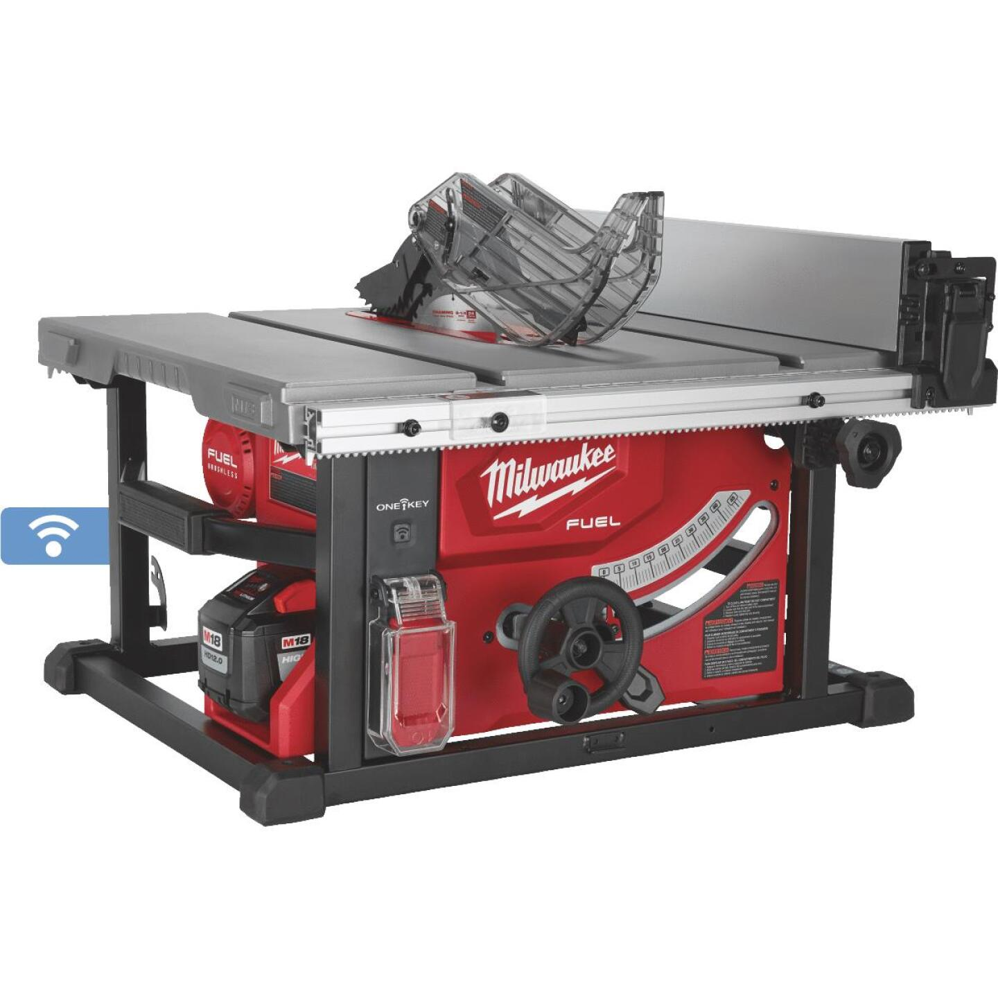 Milwaukee M18 FUEL 18-Volt Lithium-Ion Brushless 8-1/4 In. Cordless Table Saw w/One-Key Kit Image 1