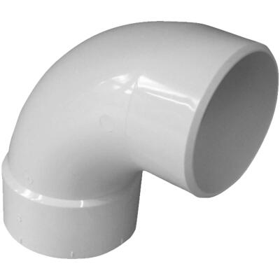 IPEX Canplas SDR 35 90 Degree 3 In. PVC Sewer and Drain Elbow Street (1/4 Bend)