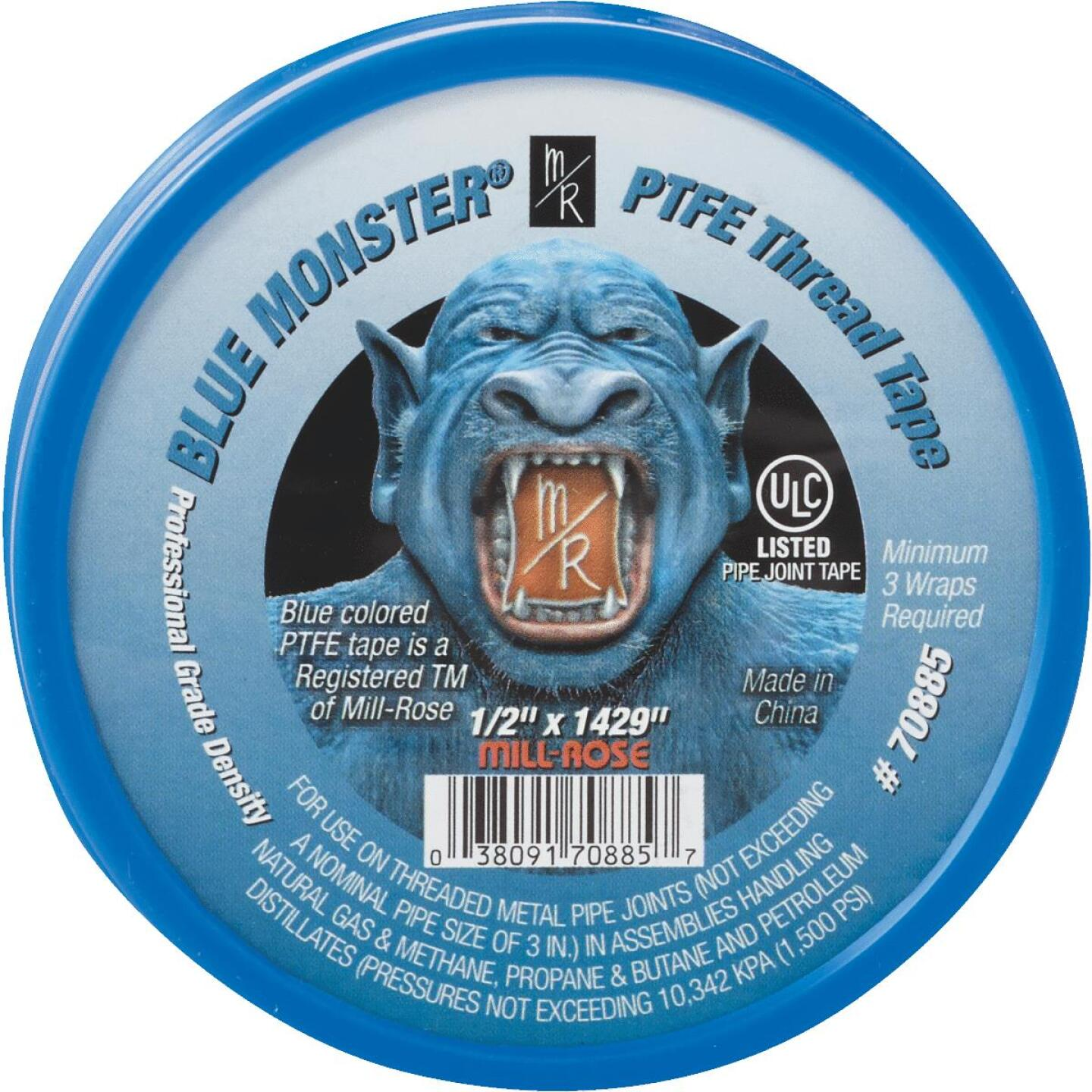 BLUE MONSTER 1/2 In. x 1429 In. Blue Thread Seal Tape Image 2