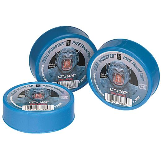 BLUE MONSTER 3/4 In. x 1429 In. Blue Thread Seal Tape