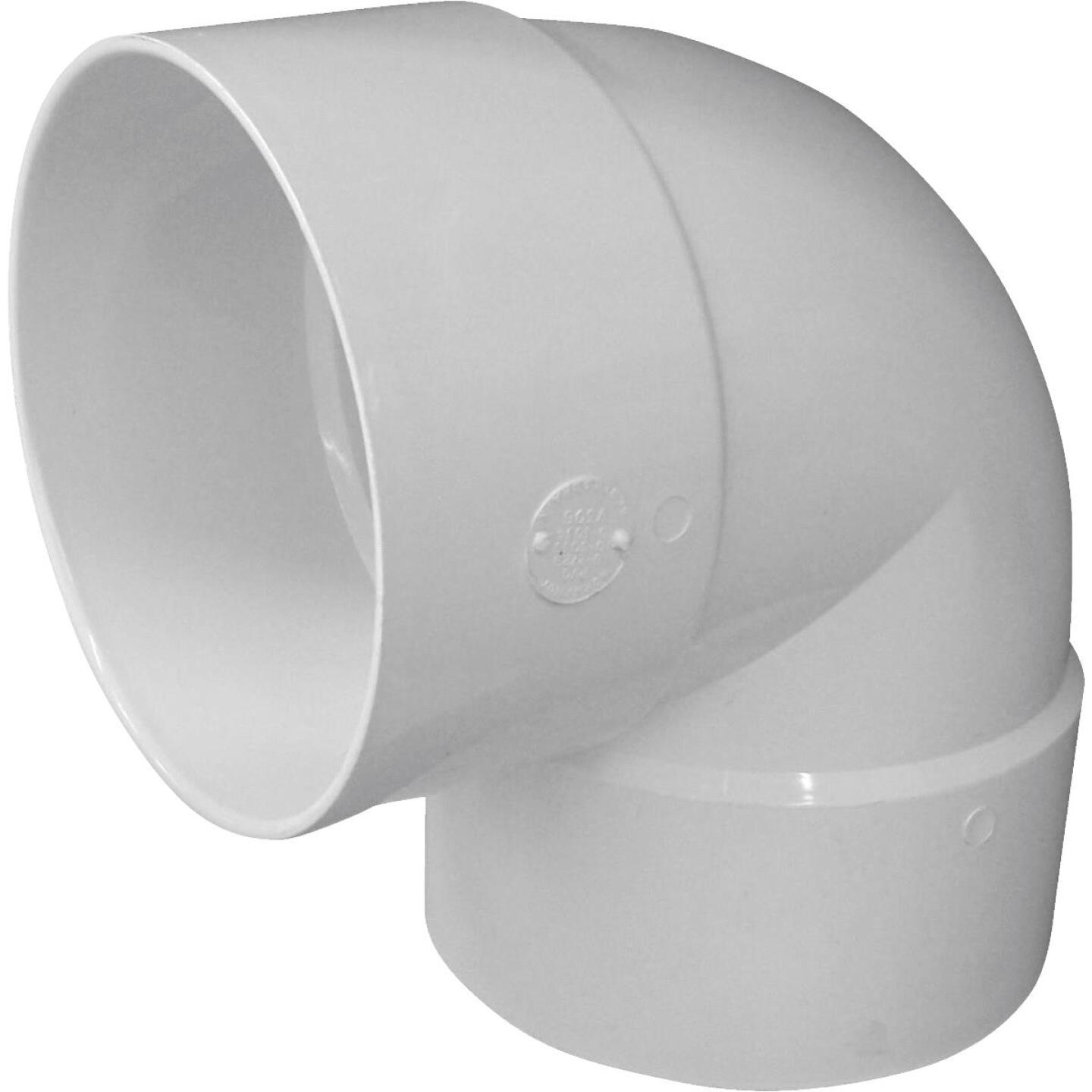 IPEX Canplas SDR 35 90 Degree 6 In. PVC Sewer and Drain Short Turn Elbow (1/4 Bend) Image 1