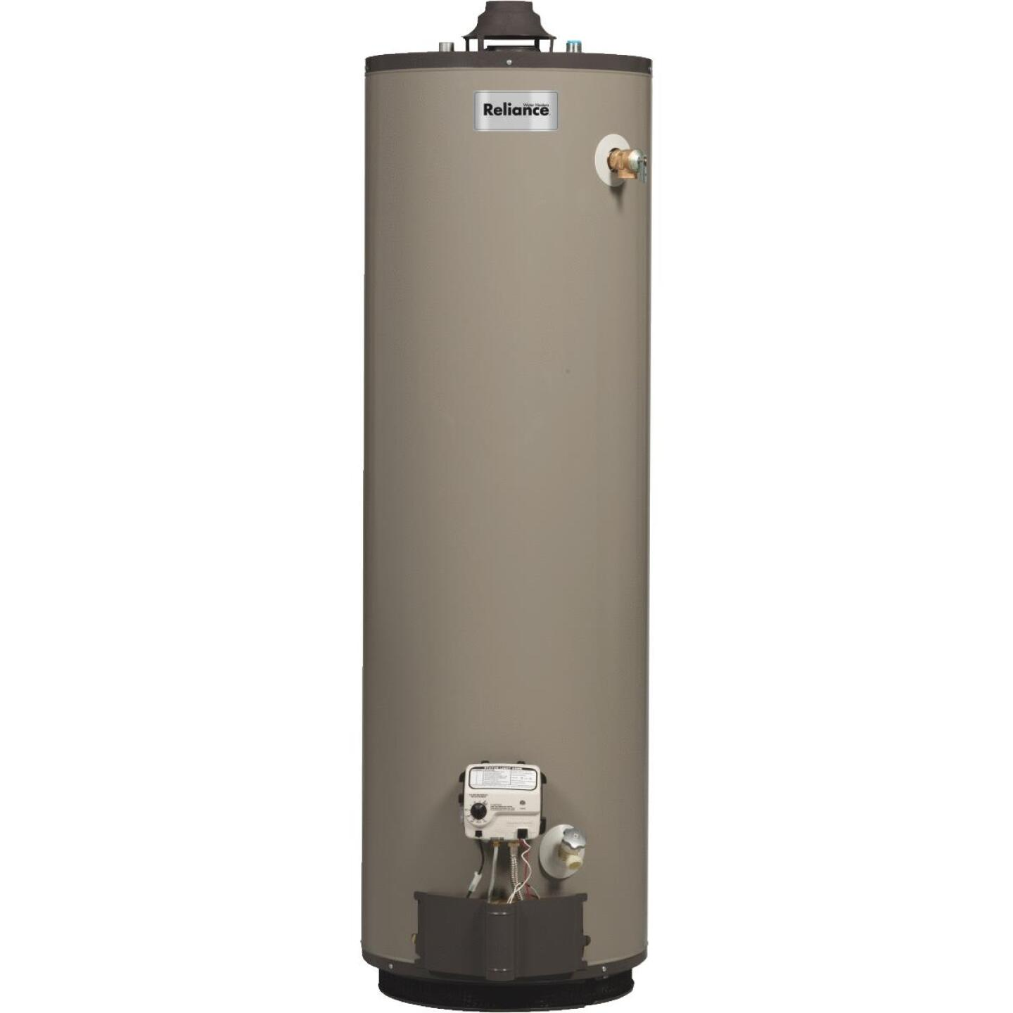 Reliance 40 Gal. Tall 9 Yr. 40,000 BTU Self-Cleaning Natural Gas Water Heater Image 1