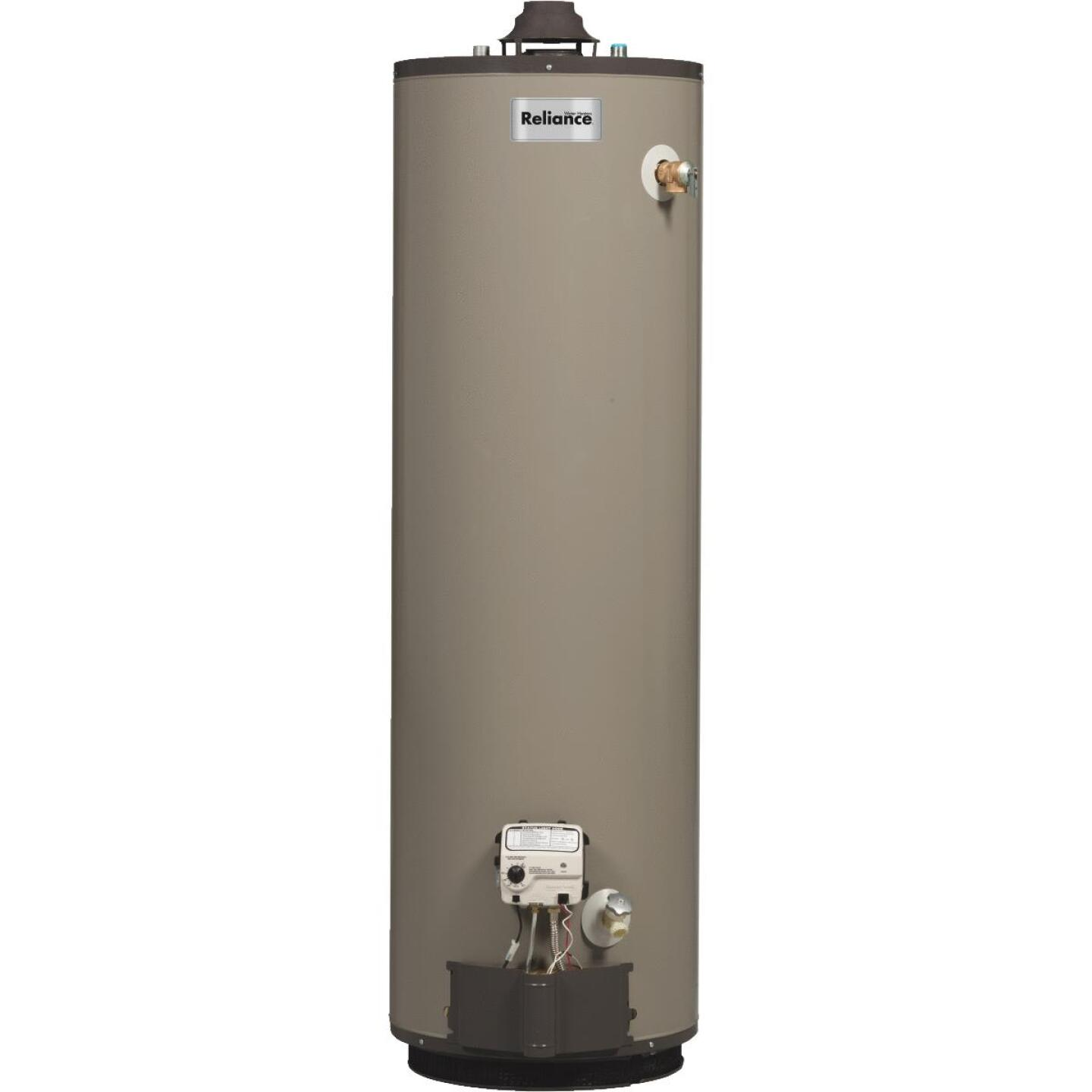 Reliance 50 Gal. Tall 9yr 40,000 BTU Self-Cleaning Natural Gas Water Heater Image 1