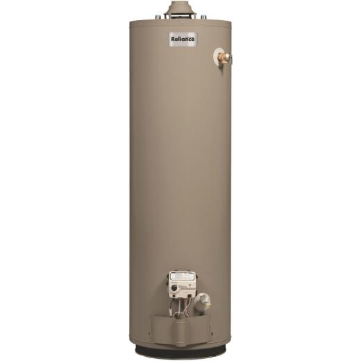 Reliance 40 Gal. Tall 6yr 40,000 BTU Natural Gas Water Heater