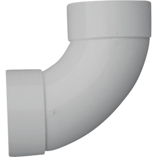 IPEX Canplas 6 In. SDR 35 90 Deg. PVC Sewer and Drain Sanitary Elbow (1/4 Bend)