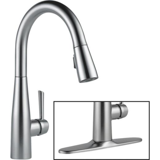 Delta Essa Single Handle Lever Kitchen Faucet with Pull-Down Spray, Stainless
