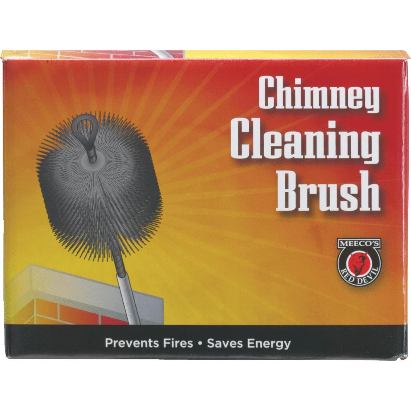 Meeco's Red Devil 8 In. Round Poly Chimney Brush Image 2