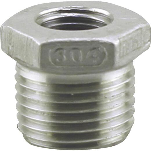 PLUMB-EEZE 1/2 In. MIP x 1/4 In. FIP Stainless Steel Bushing