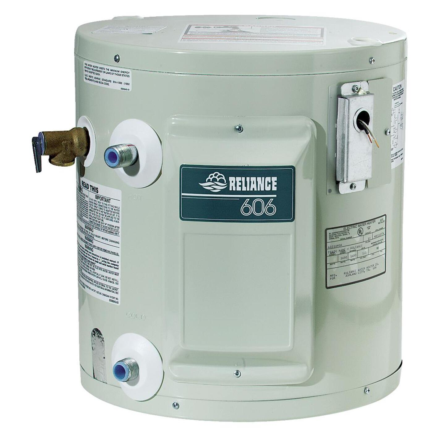 Reliance 10 Gal. Compact 6yr 1650W Element Electric Water Heater Image 1