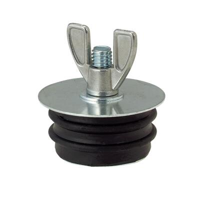 Jones Stephens 2 In. IPS Galvanized Steel Sewer and Drain Test Plug