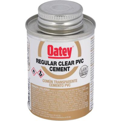 Oatey 4 Oz. Regular Bodied Clear PVC Cement
