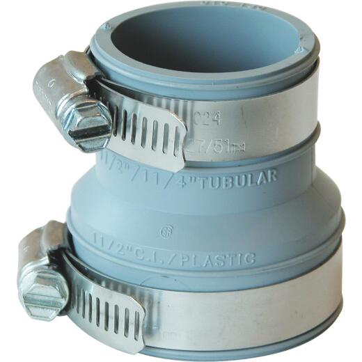 Fernco Flexible 1-1/2 In. x 1-1/2 In. or 1-1/4 In. PVC Drain and Trap Connector