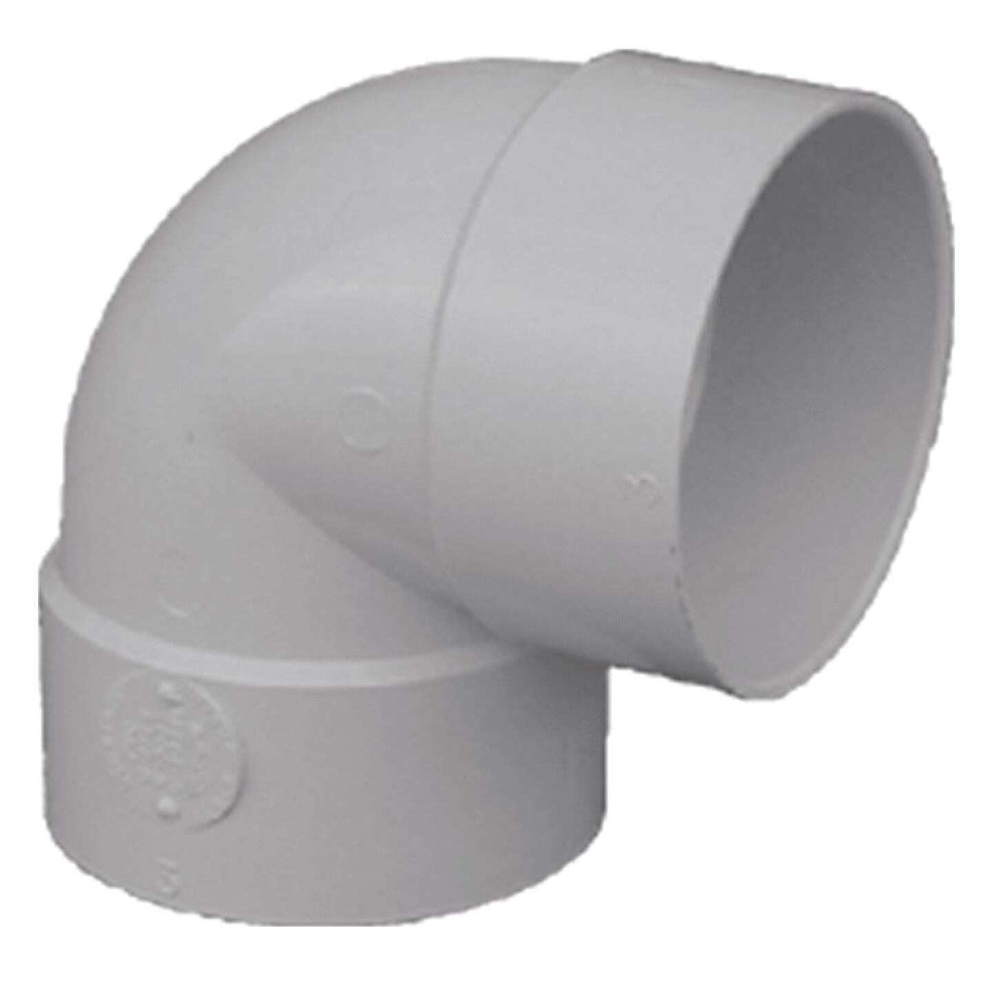 IPEX Canplas SDR 35 90 Degree 4 In. PVC Sewer and Drain Short Turn Elbow (1/4 Bend) Image 1