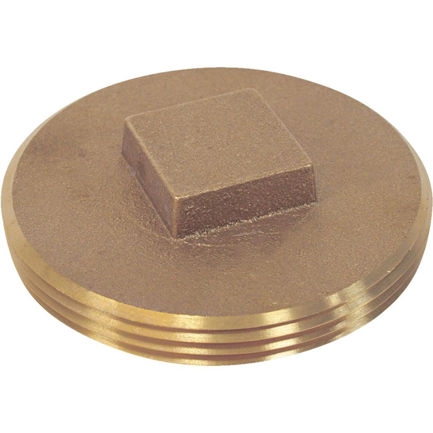 Jones Stephens 3-1/2 In. IPS Brass Cleanout Drain Plug Image 1