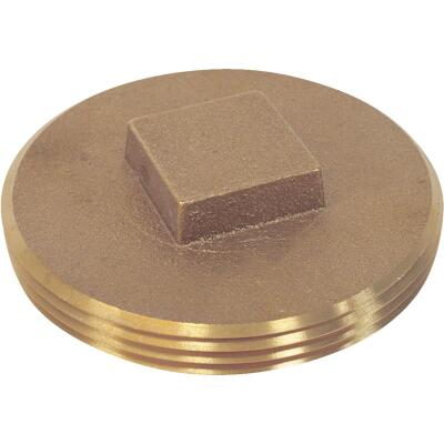 Jones Stephens 3-1/2 In. IPS Brass Cleanout Drain Plug