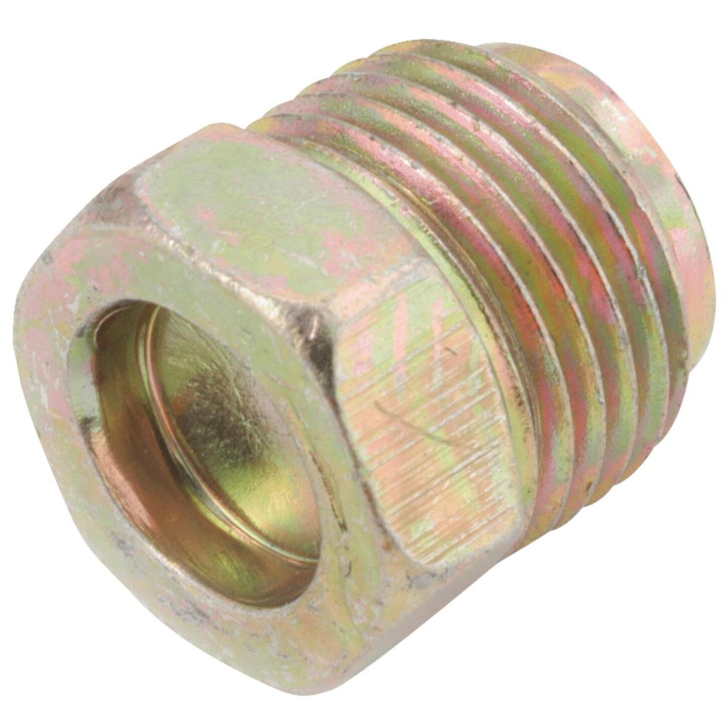 Anderson Metals 5/16 In. Brass Inverted Flare Plug Image 1