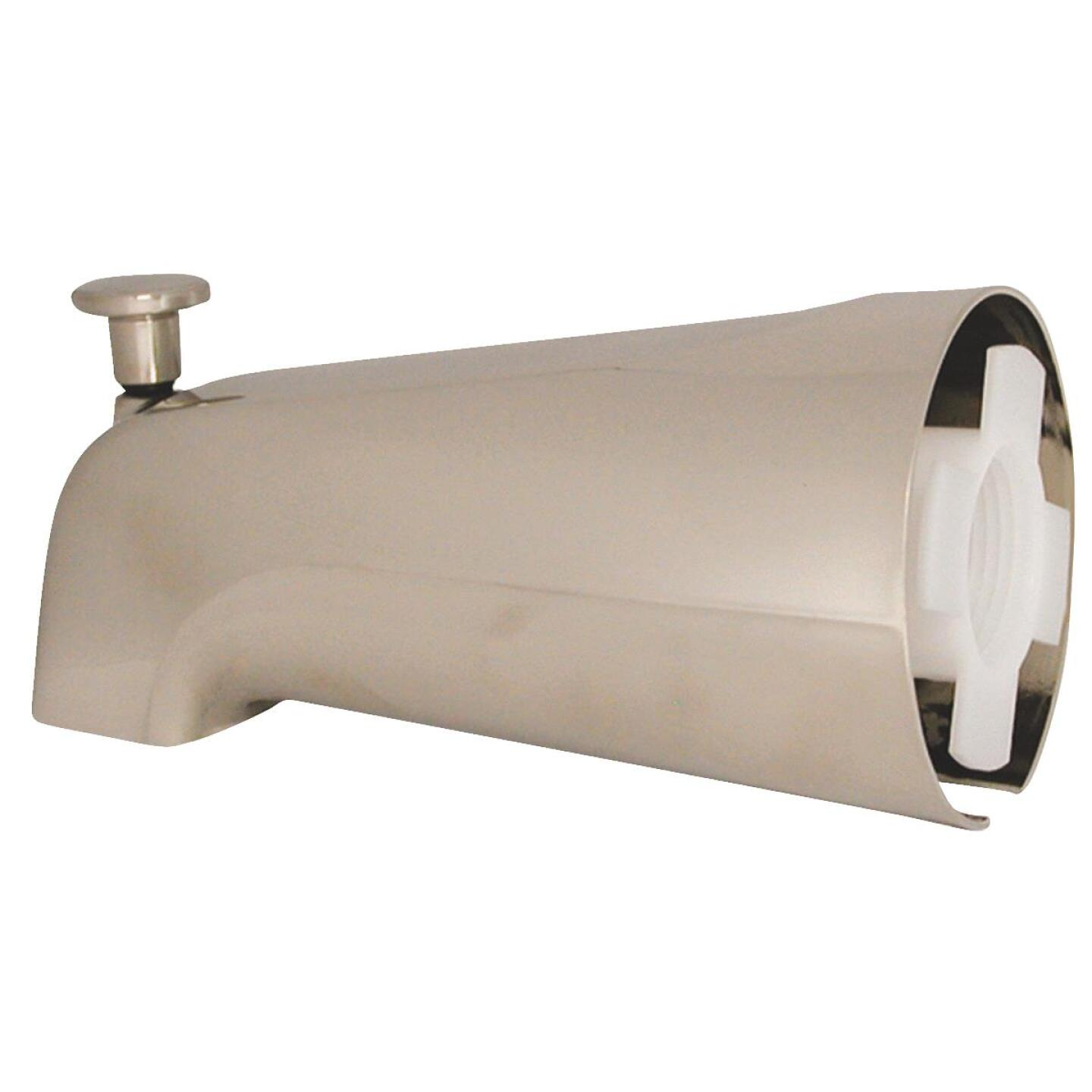 Danco 6 In. Brushed Nickel Bathtub Spout with Diverter Image 1