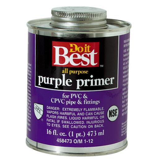 Do it Best 16 Oz. Purple Pipe and Fitting Primer for PVC/CPVC