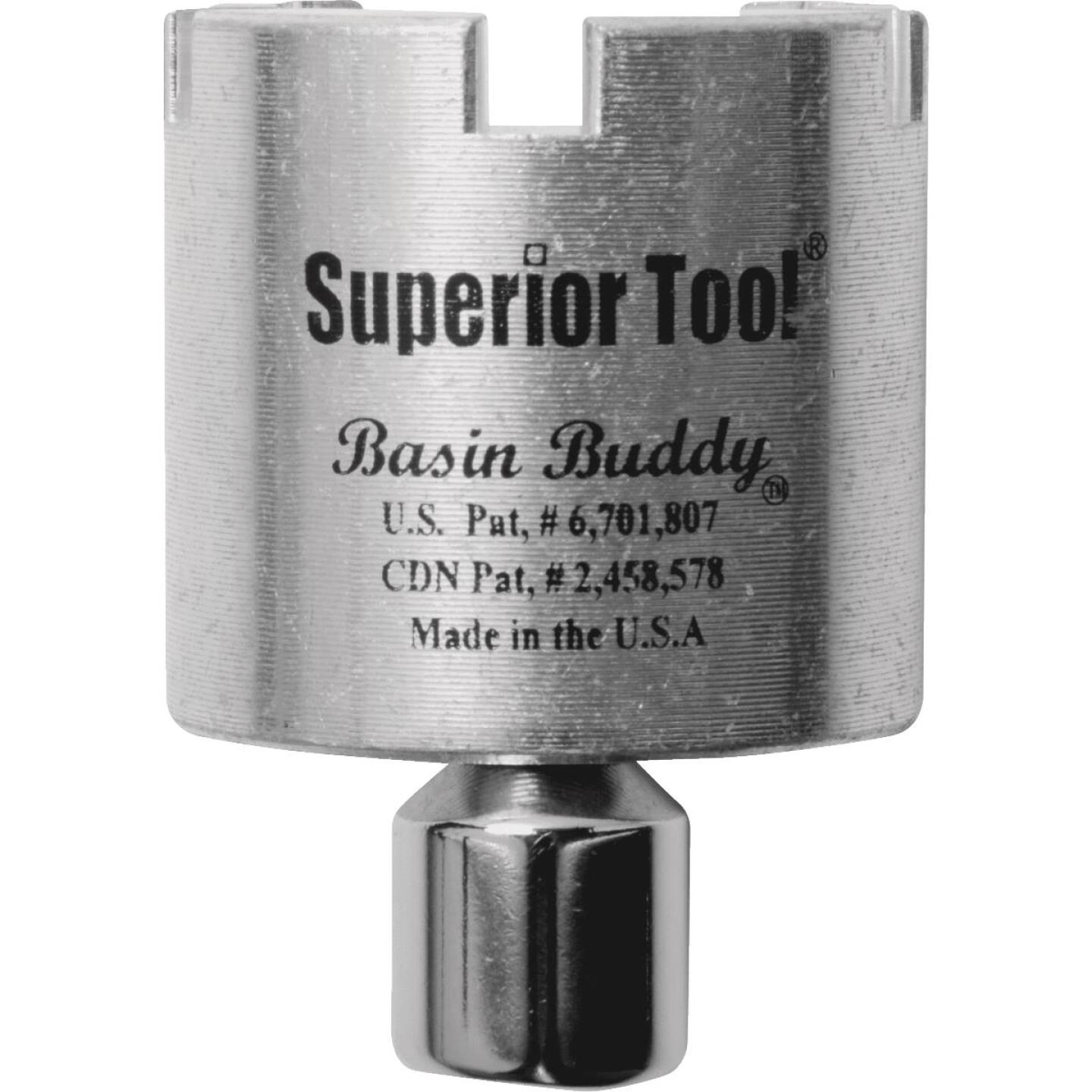 Superior Tool Basin Buddy Universal Sink Drain Wrench Image 1