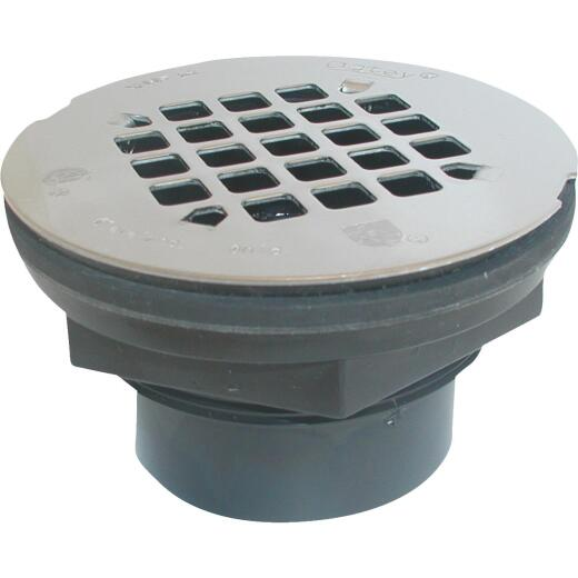 Oatey 2 In. ABS Solvent Weld Shower Drain with 4-1/4 In. with Stainless Steel Strainer