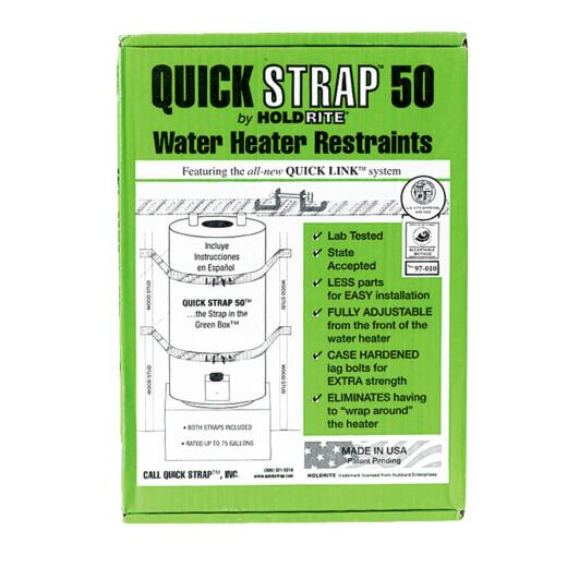 Quick Strap 50 Gallon Water Heater Restraining Strap
