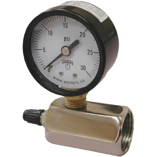 Jones Stephens 3/4 In. FIP 30 PSI Gas Test Gauge Assembly