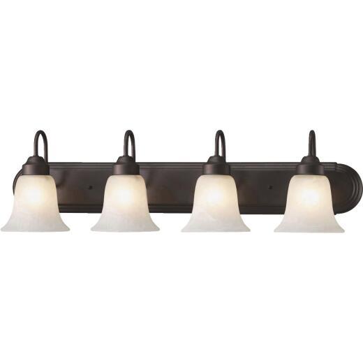 Home Impressions Julianna 4-Bulb Oil Rubbed Bronze Vanity Bath Light Bar