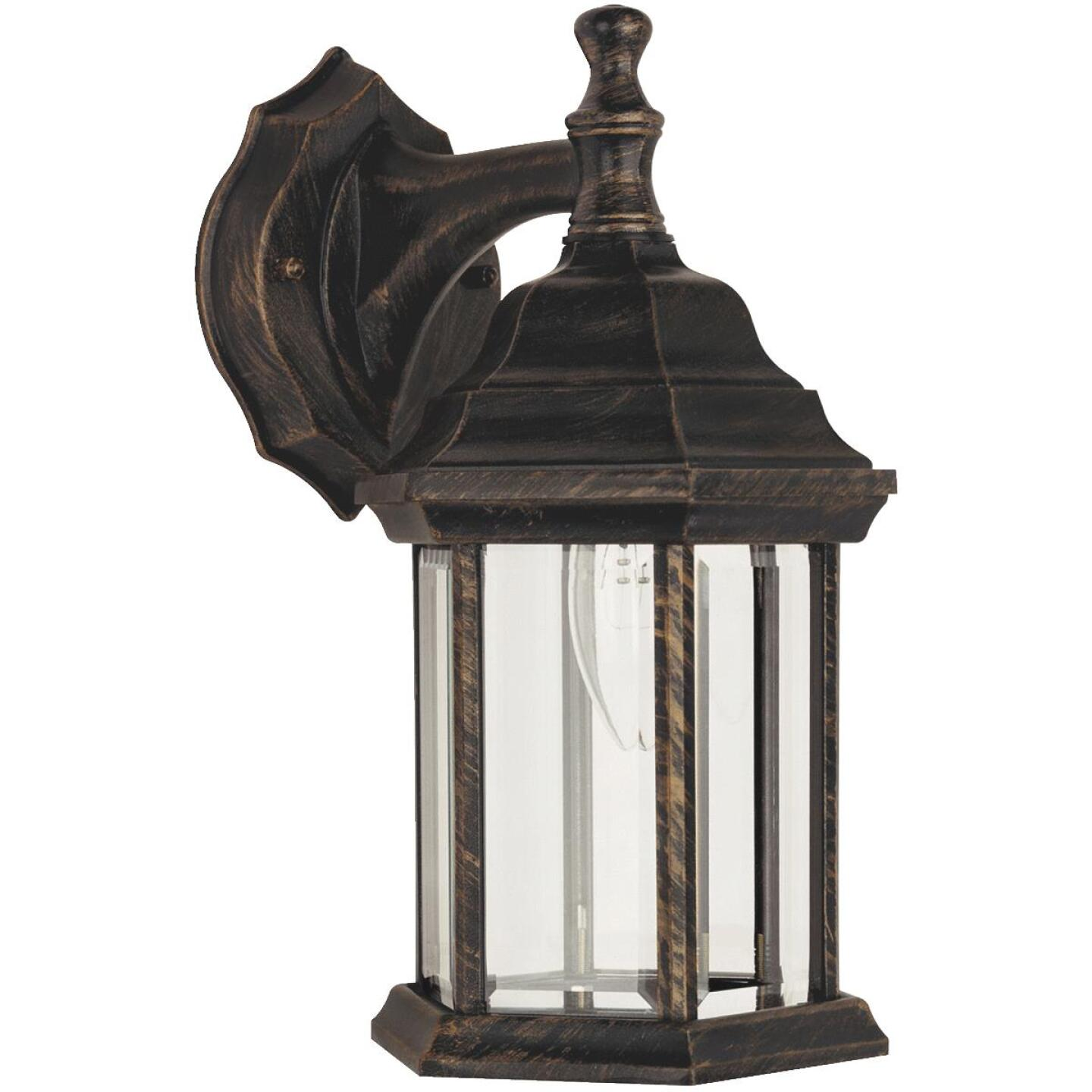 Home Impressions Antique Black w/Gold Highlights Incandescent Type A Outdoor Wall Light Fixture Image 1