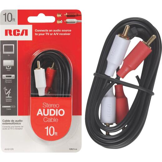 RCA 10 Ft. Black Stereo Audio Cable