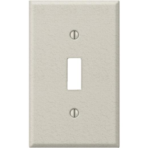 Amerelle PRO 1-Gang Stamped Steel Toggle Switch Wall Plate, Light Almond Wrinkle