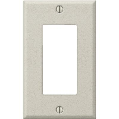 Amerelle PRO 1-Gang Stamped Steel Rocker Decorator Wall Plate, Light Almond Wrinkle