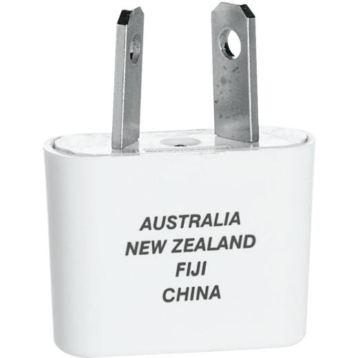 Franzus Angled 2-Blade Foreign Plug Adapter, Australia/New Zealand/China