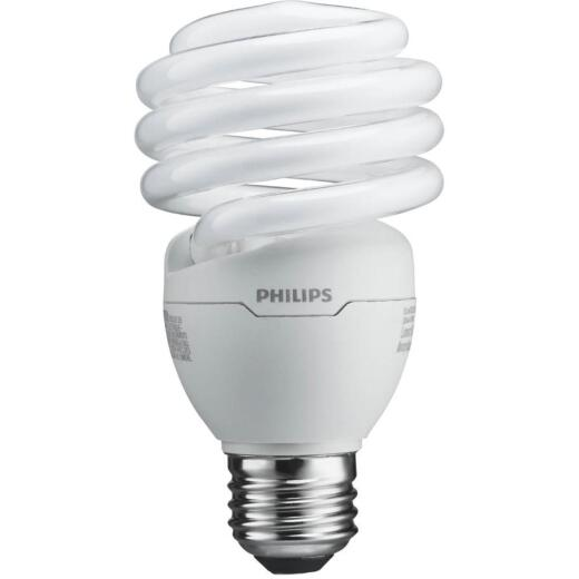 Philips Energy Saver 100W Equivalent Daylight Medium Base T2 Spiral CFL Light Bulb (4-Pack)