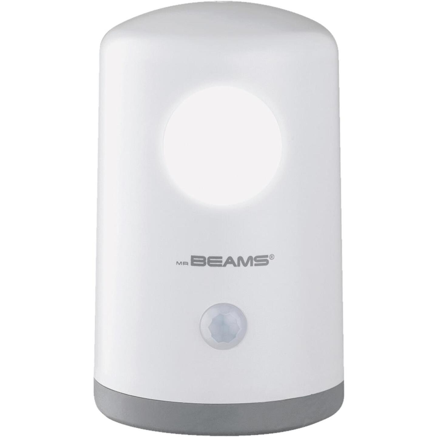 Mr. Beams White Hands Free Stand Anywhere Outdoor Battery Operated LED Light Image 3