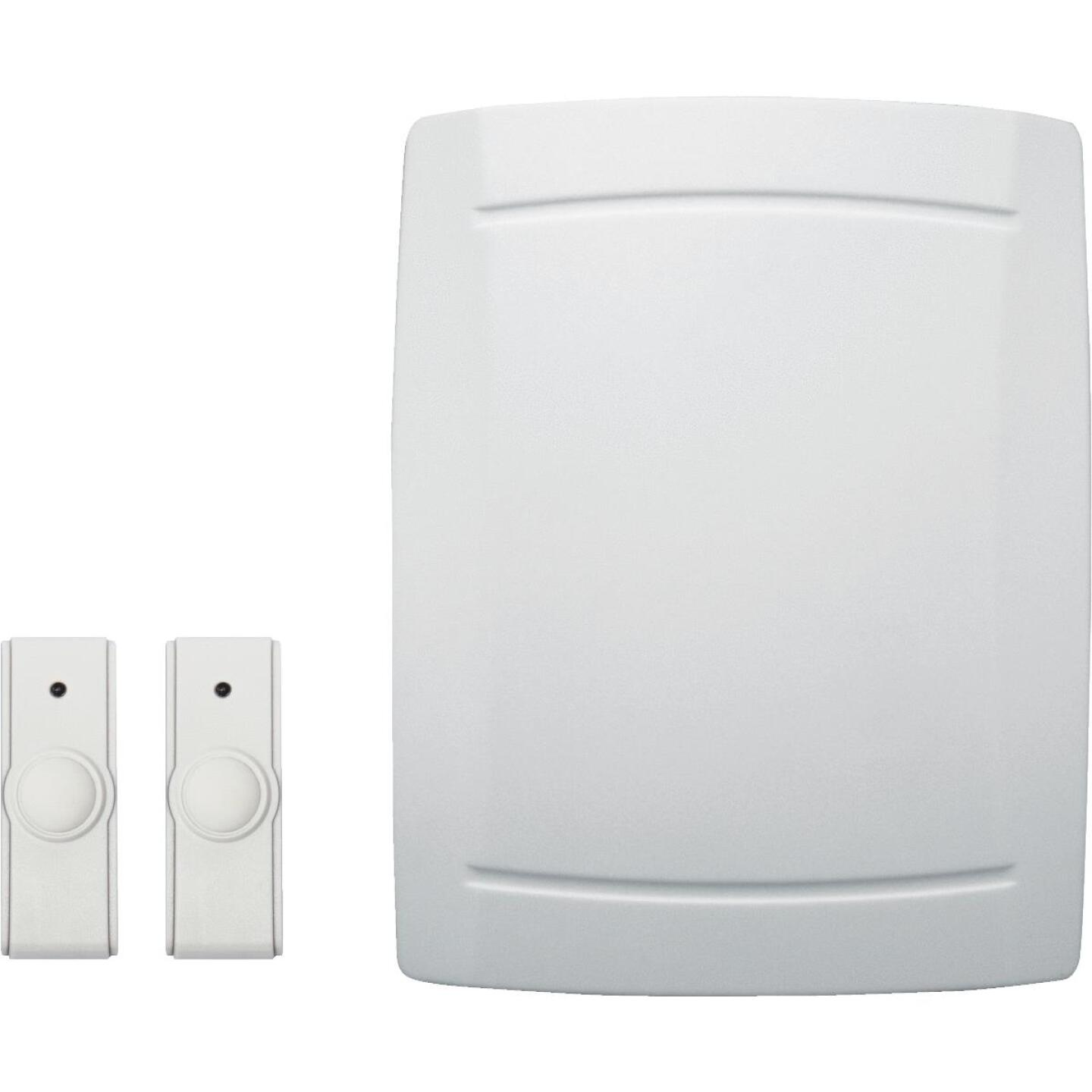 IQ America Step-Up Battery Operated Wireless Off-White Door Chime with 2 Push Buttons Image 1
