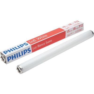 Philips 15W 18 In. Soft White T12 Medium Bi-Pin Fluorescent Tube Light Bulb