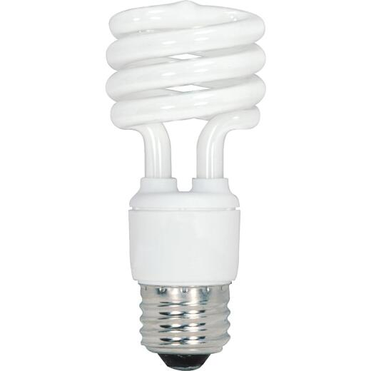 Satco 60W Equivalent Warm White Medium Base T2 Spiral CFL Light Bulb (4-Pack)