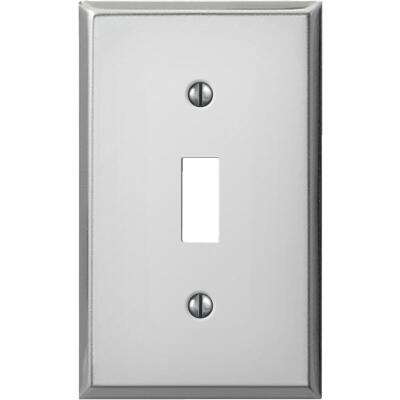 Amerelle PRO 1-Gang Stamped Steel Toggle Switch Wall Plate, Polished Chrome