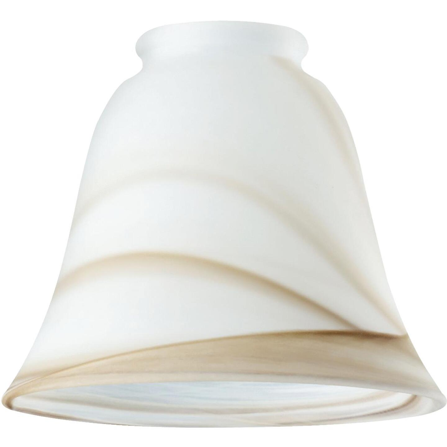 Westinghouse 5-1/8 In. Brown Swirl Bell Glass Shade Image 1