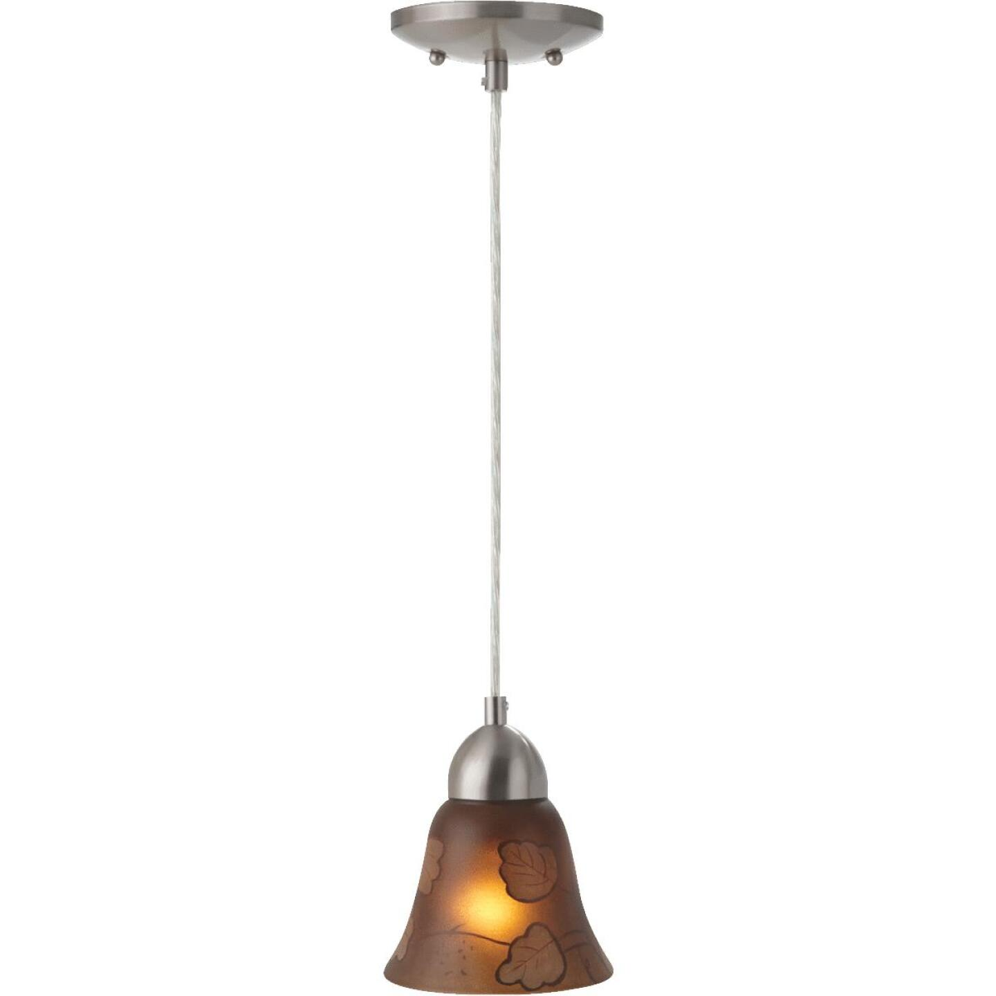 Westinghouse 4-3/4 In. Brown Leaf Glass Shade Image 4