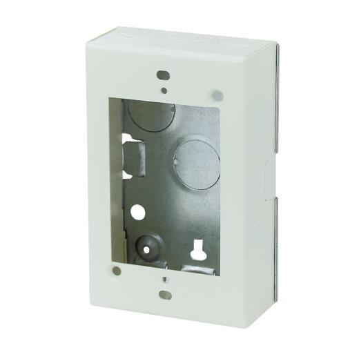 Wiremold Ivory Steel 1-3/8 In. Outlet Box