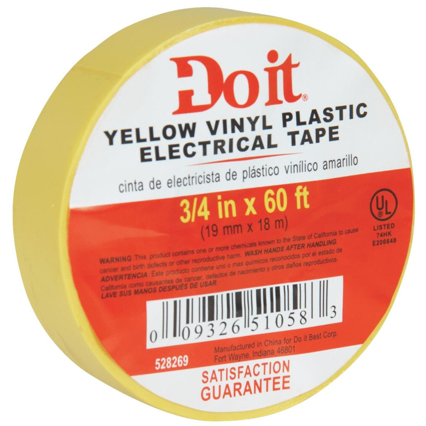 Do it General Purpose 3/4 In. x 60 Ft. Yello Electrical Tape Image 3